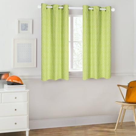Mainstays Kids Green Polka Dot Room Darkening Coordinating Window Curtain Polka Dot Curtain Panels
