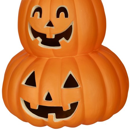 14 in. Pumpkin Stack Halloween Decoration - Scary Pumpkins Halloween