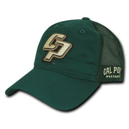 Poly Mesh Cap - Cal Poly State University Mustangs Trucker Mesh Polo Baseball Cap Hat