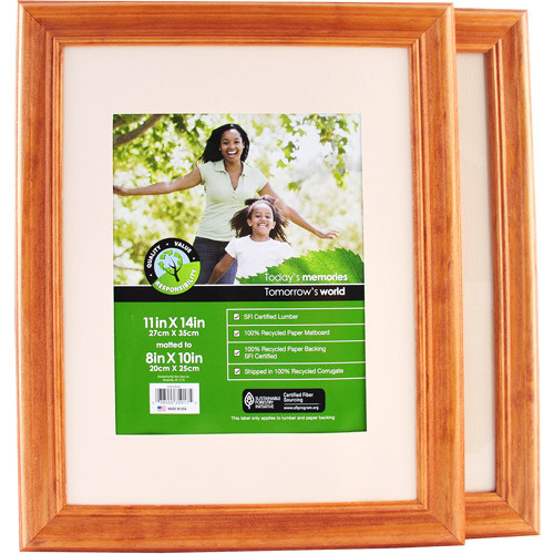 "11""x14"" Natural Wood Wall Frame Matted T"