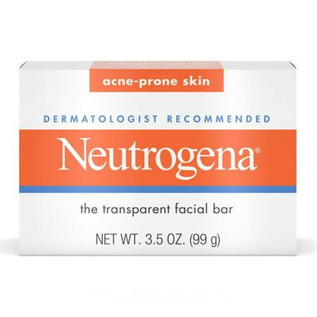 Neutrogena The Transparent Facial Bar Soap With Acne-Prone Skin Formula - 3.5 Oz, 3