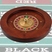 "Trademark Poker 19.5"" Deluxe Wooden Roulette Wheel"