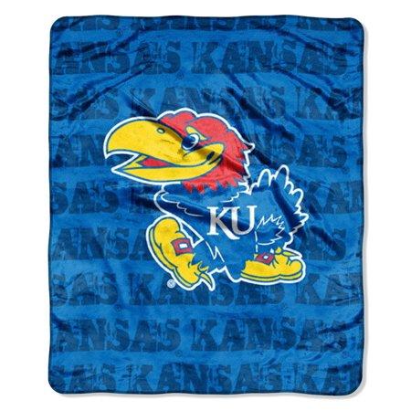 "Kansas Jayhawks 46"" X 60"" Micro Raschel Throw Blanket - Grun"