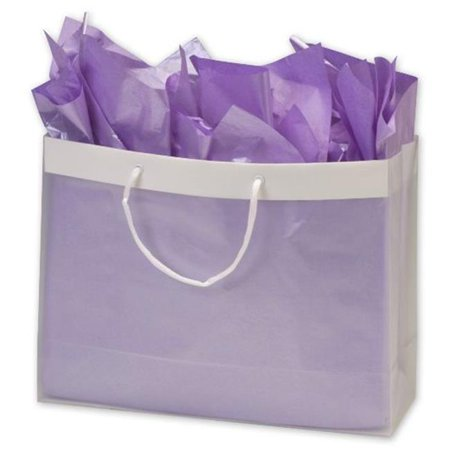 Bags & Bows by Deluxe 268-160612-EURO Clear Frosted High Density Euro Shoppers - Case of 100 (Euro Shoppers)