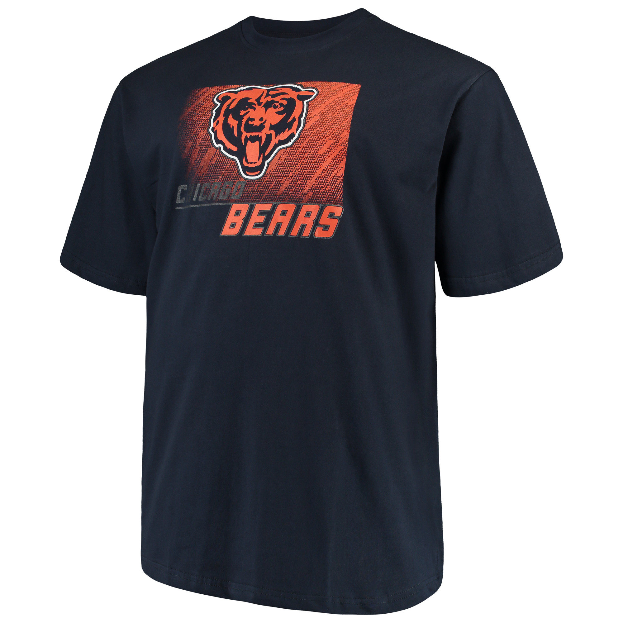 Men's Majestic Navy Chicago Bears Big & Tall Reflective T-Shirt