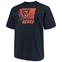 be54b56e8 Product Image Men's Majestic Navy Chicago Bears Big & Tall Reflective T- Shirt