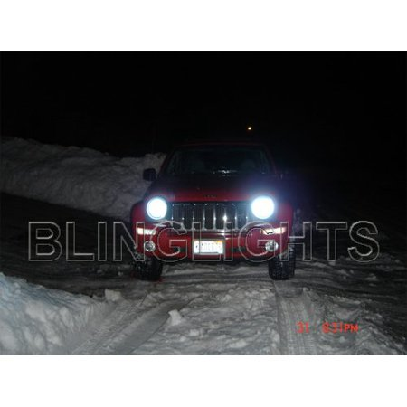 2002 2003 2004 2005 2006 2007 Jeep Liberty Kj Bright White Light Bulbs Headlamps Headlights Upgrade