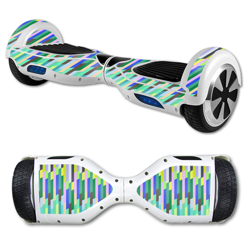 MightySkins Protective Vinyl Skin Decal for Hover Board Self Balancing Scooter mini 2 wheel x1 razor wrap cover Fruit Stripes