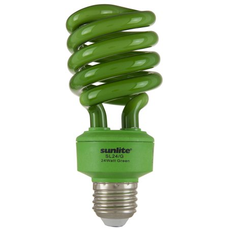 SUNLITE 00555 Compact Fluorescent 24W Super Twist CD Colored Bulb Medium Fluorescent Green