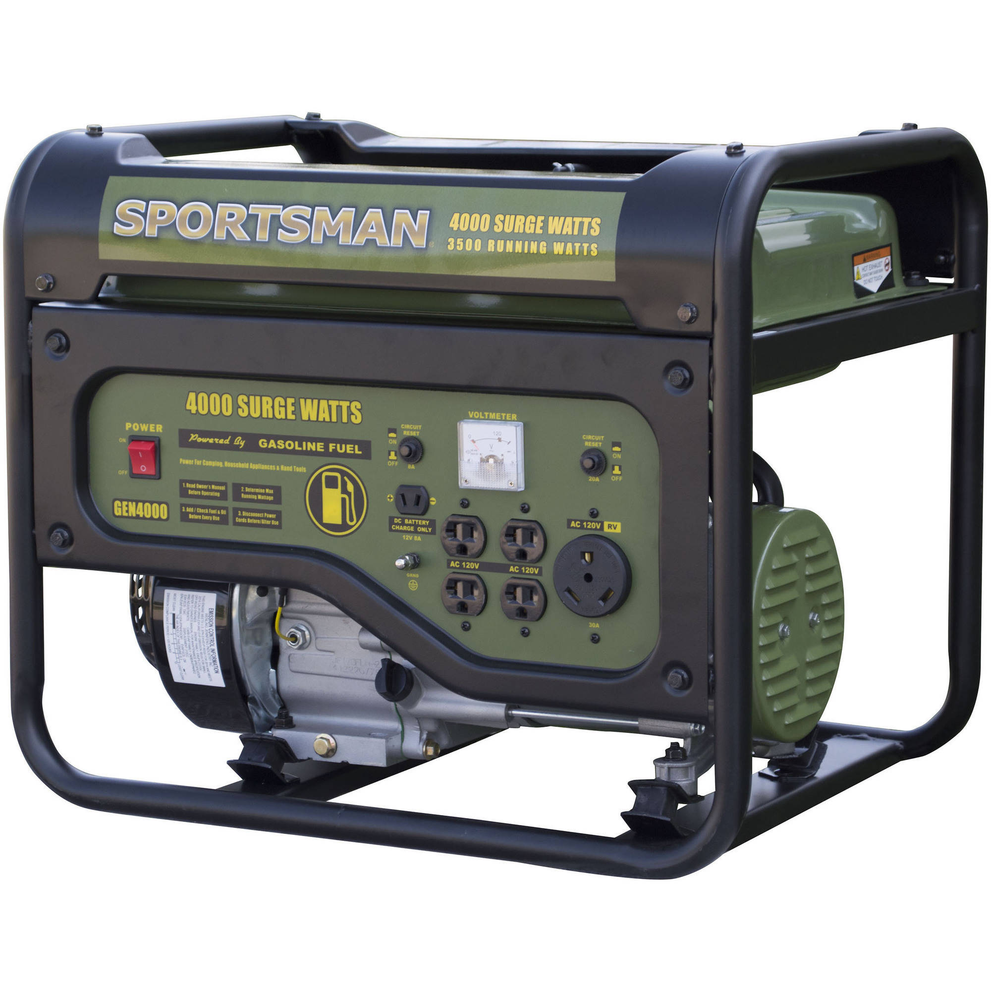 Sportsman Gasoline 4000w Portable Generator 4000 Watt Generac Wiring