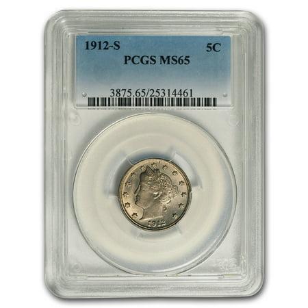 1912 S Liberty Head V Nickel Ms 65 Pcgs