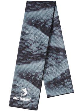 Reel Legends Mens Keep It Cool Migration Cooling Towel One Size Black/grey