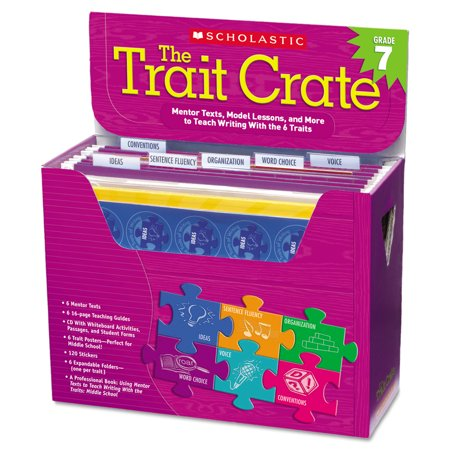 Scholastic Trait Crate, Grade 7, Six Books, Learning Guide, CD, More