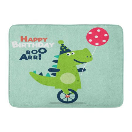 GODPOK Adorable Happy Birthday Lovely with Funny Dinosaur Ideal Party Kindergarten Preschool and Children Room Rug Doormat Bath Mat 23.6x15.7 - Halloween Math Ideas For Preschool