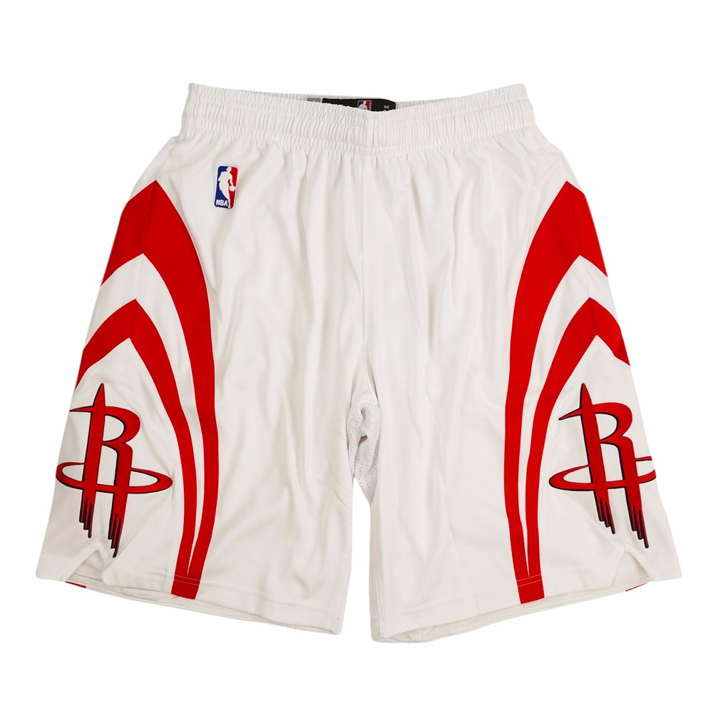 Houston Rockets NBA Adidas White Authentic On-Court Climacool Team Game Shorts For Men