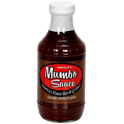 Argia B's Mumbo Sauce Hickory Smoke Bar-B-Q Sauce, 18 oz (Pack of 6)