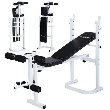costway olympic folding weight bench incline lift workout
