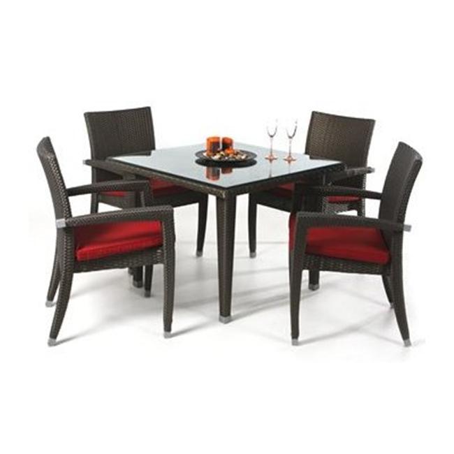 All Things Cedar PR35-5 Rattan - 5 Piece Patio Table Set