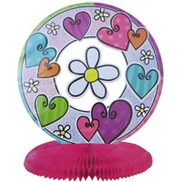 Hearts & Flowers Prismatic Honeycomb Centerpiece (1ct)