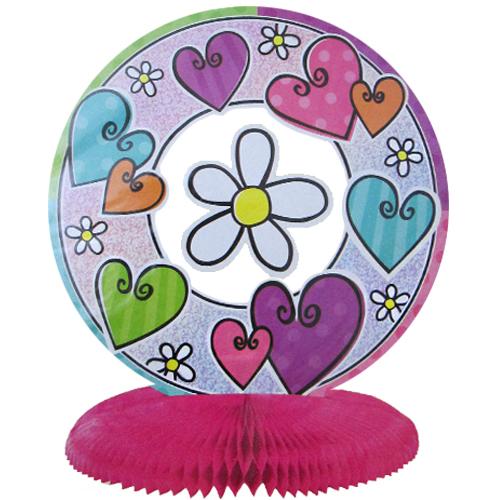 Hearts & Flowers Prismatic Honeycomb Centerpiece (1ct)