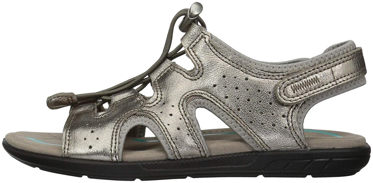 95622e7fbe80b ECCO Women's Women's Bluma Toggle Gladiator Sandal, Warm Grey/Metallic, 38  EU/7-7.5 M US