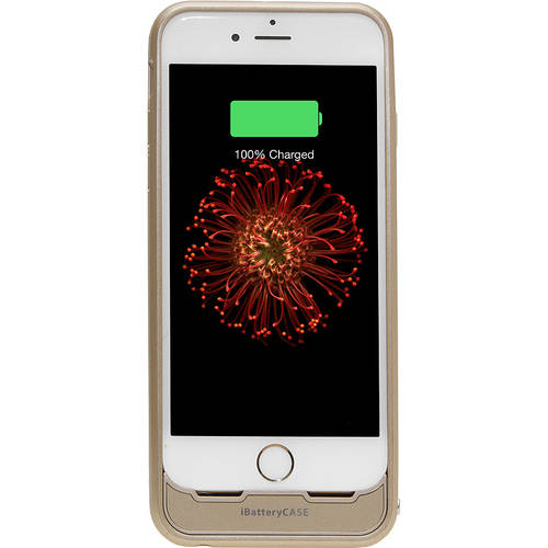 LifeCHARGE MFi-Certified Extended Protective iBattery Case for Apple iPhone 6/6S, Gold