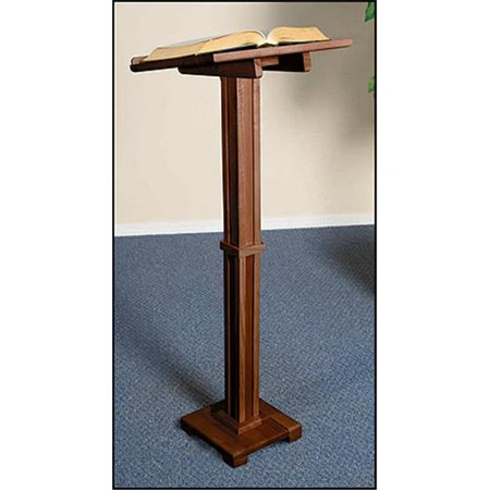 Christian Brands Church Supply MD016NB Standing Lectern-Walnut Finish
