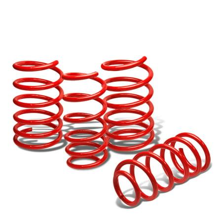 For 04-07 Subaru WRX/STi Suspension Lowering Springs Set (Red) - GD GG 05 06