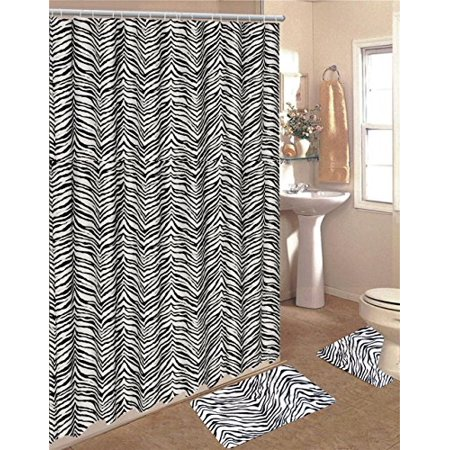 Zebra Animal Print Memory Foam Bath Rug