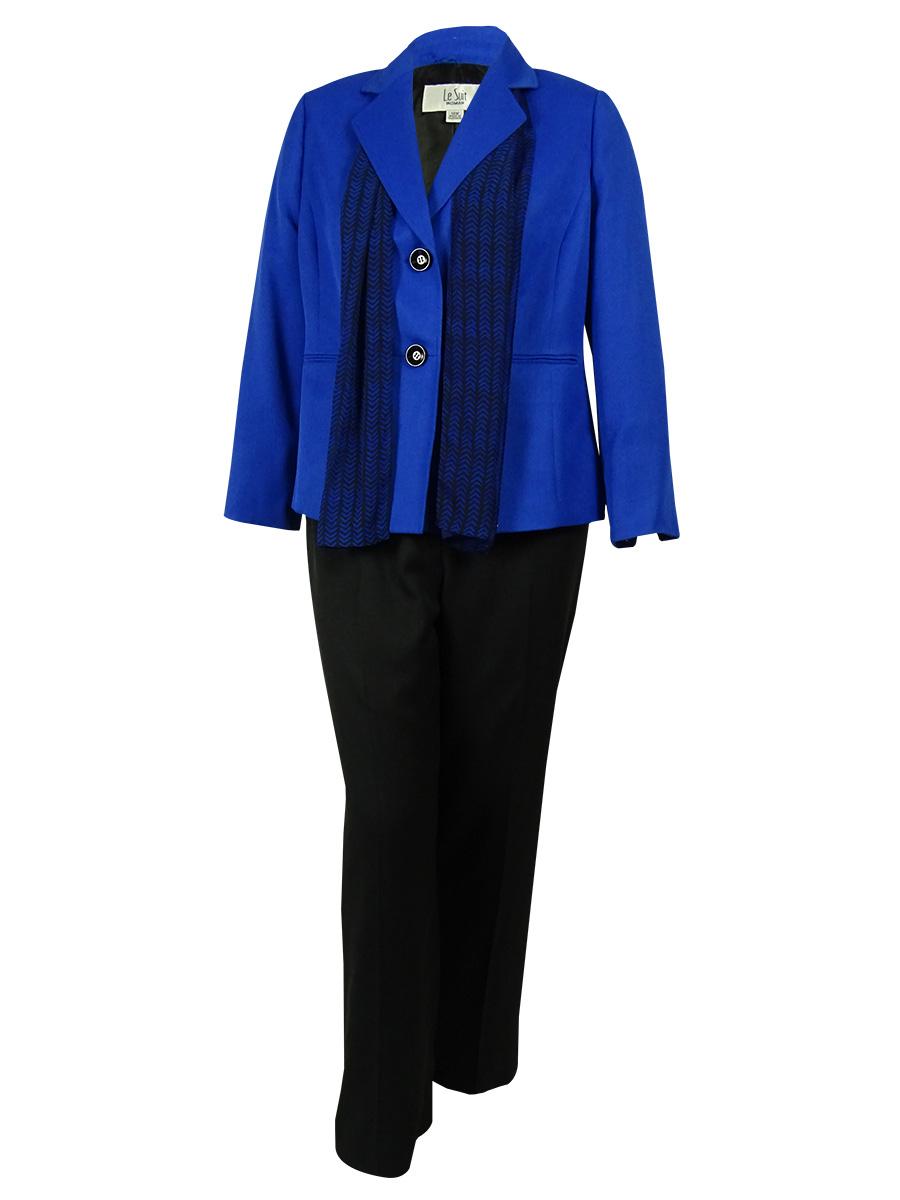 Le Suit Women's Two Button Pant Suit