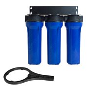 Water Filter Whole House 2.5inx10in Three Stage Filtration System 3/4in Inlet B