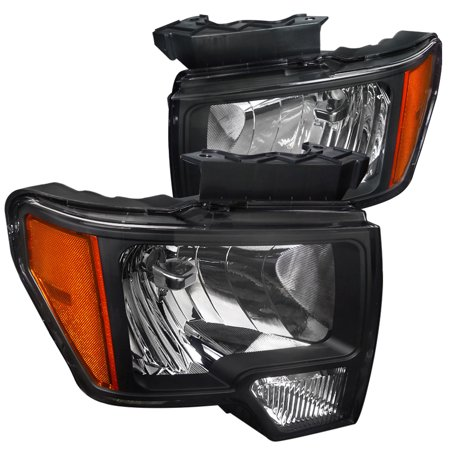 Lumina Euro Headlights - Spec-D Tuning 2009-2014 Ford F150 Euro Style Headlights Head Lamps 2009 2010 2011 2012 2013 2014 (Left + Right)