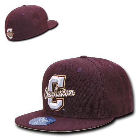 College of Charleston Cougars COFC NCAA Fitted Flat Bill - Hat / Cap _6 (Cougar Flats)
