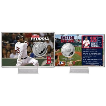 MLB Boston Red Sox Dustin Pedroia Silver Coin Card Boston Red Sox Baseball Cards