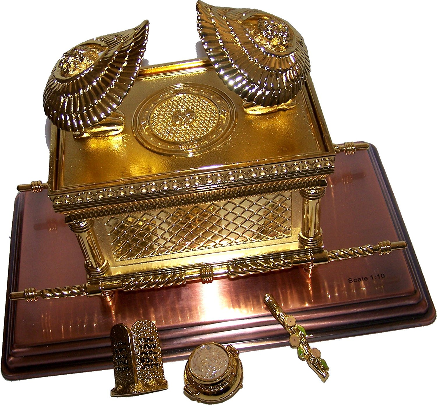 The Ark Of The Covenant Gold Plated with Ark Contents replica ( Aaron Rod, Tablets and Manna )