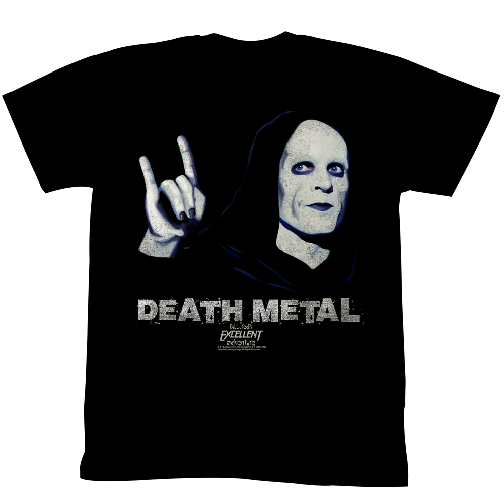 Bill & Ted's Excellent Adventure Teen Movie Reaper Death Metal Adult T-Shirt - image 1 of 1