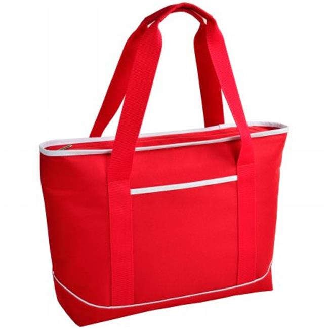 """12"""" x 18.5"""" x 5"""" Large Insulated Cooler Tote - Red / White - image 1 de 1"""