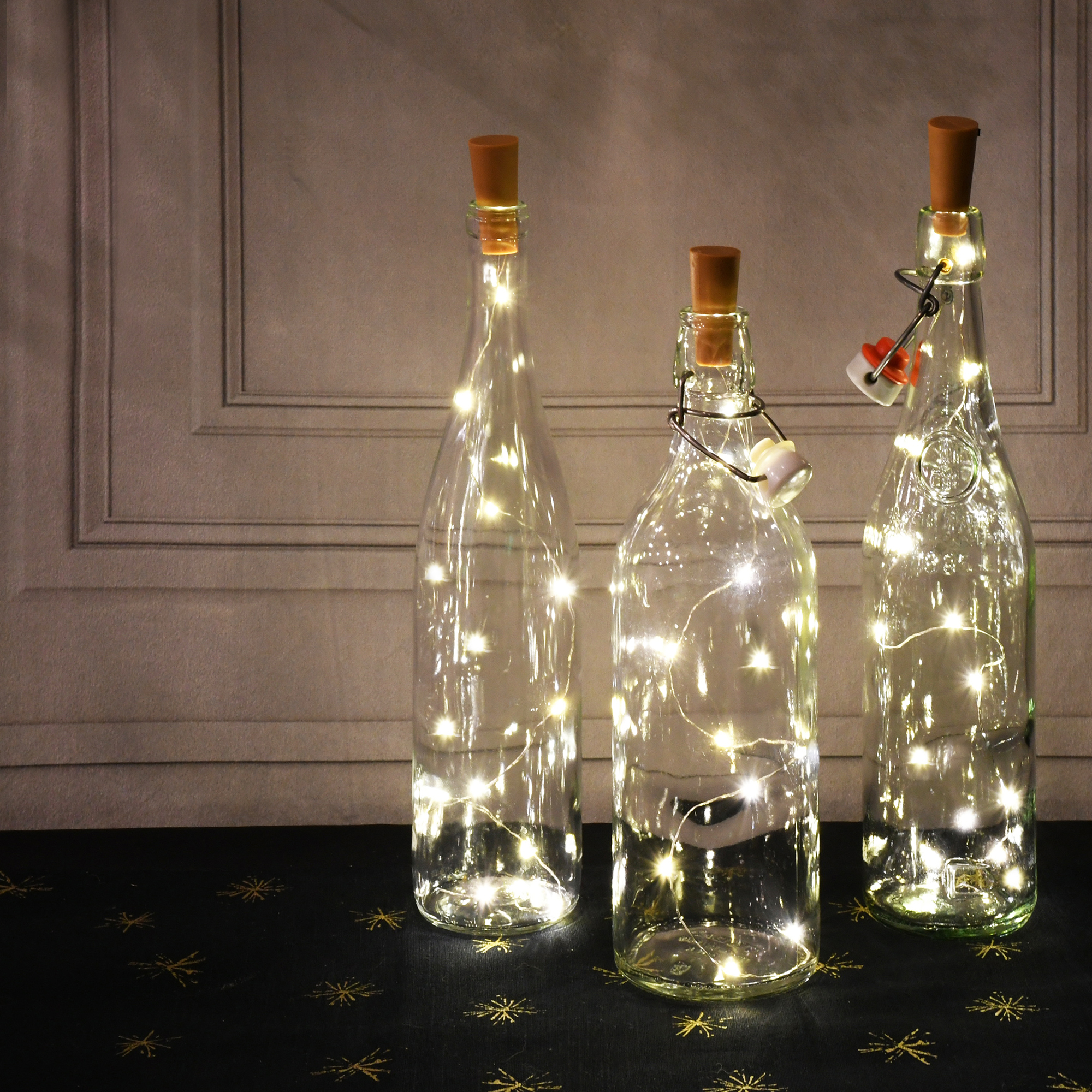Bottle Lights with Cork 10 Pack 15 LED Flashing Cork Lights Battery Operated