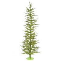 "Vickerman Artificial Christmas Tree 3' x 17"" Light Green Laser Dura-lit LED 50 Lime Lights"