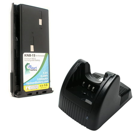 Kenwood TK-360 Battery and Charger - Replacement for Kenwood KNB-14, KNB-15 Two-Way Radio Batteries and Chargers (1200mAh, 7.2V, NI-CD) - image 4 de 4
