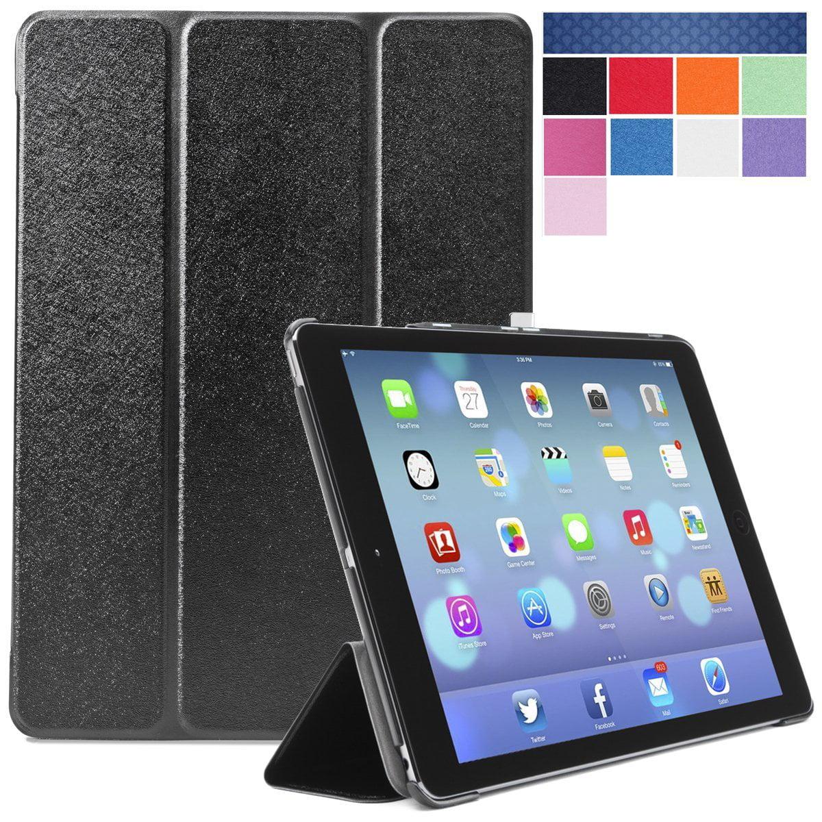 i-Blason 2nd Generation i-Folio Slim Hard Shell Stand Case Cover for Apple iPad Mini with Retina Display Case-Black