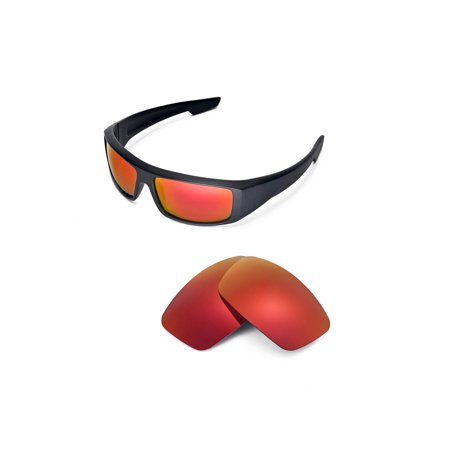 walleva replacement lenses for spy optic logan sunglasses - multiple options available (fire red - polarized)