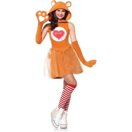 Leg Avenue Care Bears Junior Tenderheart Bear Teen Halloween Costume](Bear Halloween Costume)