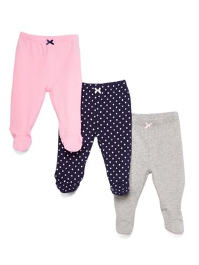 Baby 3 Pack Footed Pants