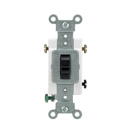 Leviton Quiet Switch 3 Way 20 Amp Brown Csa (Box 3 Way Quiet Switch)
