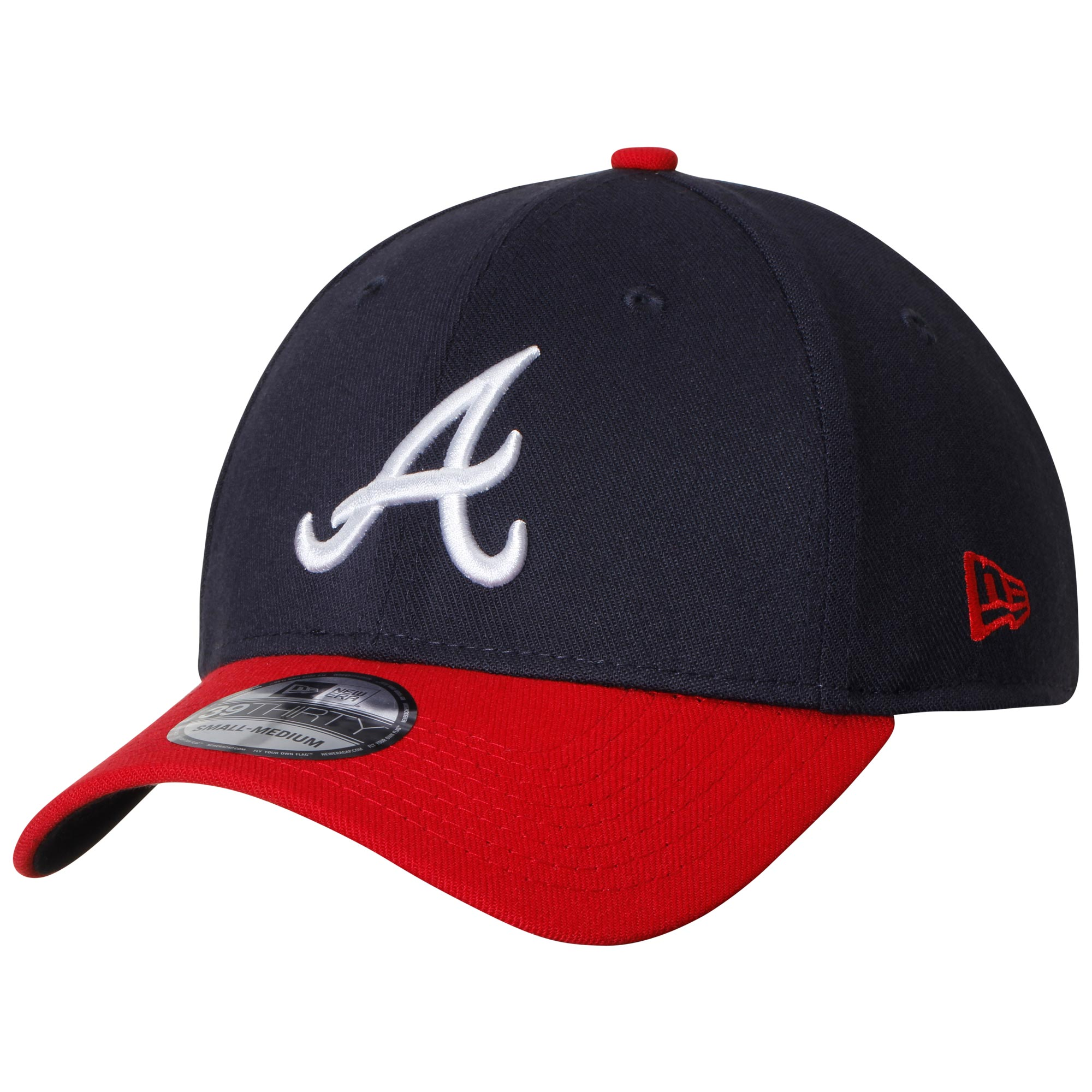 Atlanta Braves New Era Home Turner Field Team Classic 39THIRTY Stretch Fit Hat - Navy/Red