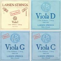 Larsen Viola String Set - Medium Gauge with Loop-End A String
