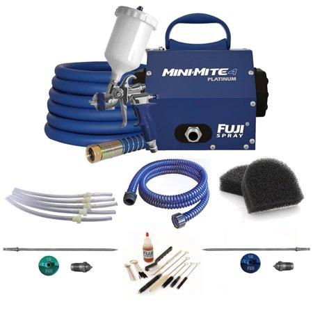 Fuji Spray Mini-Mite 4 Platinum Gravity HVLP Spray System and Pro Accessory (Fuji Hvlp Q4 Pro With Gravity Gun)
