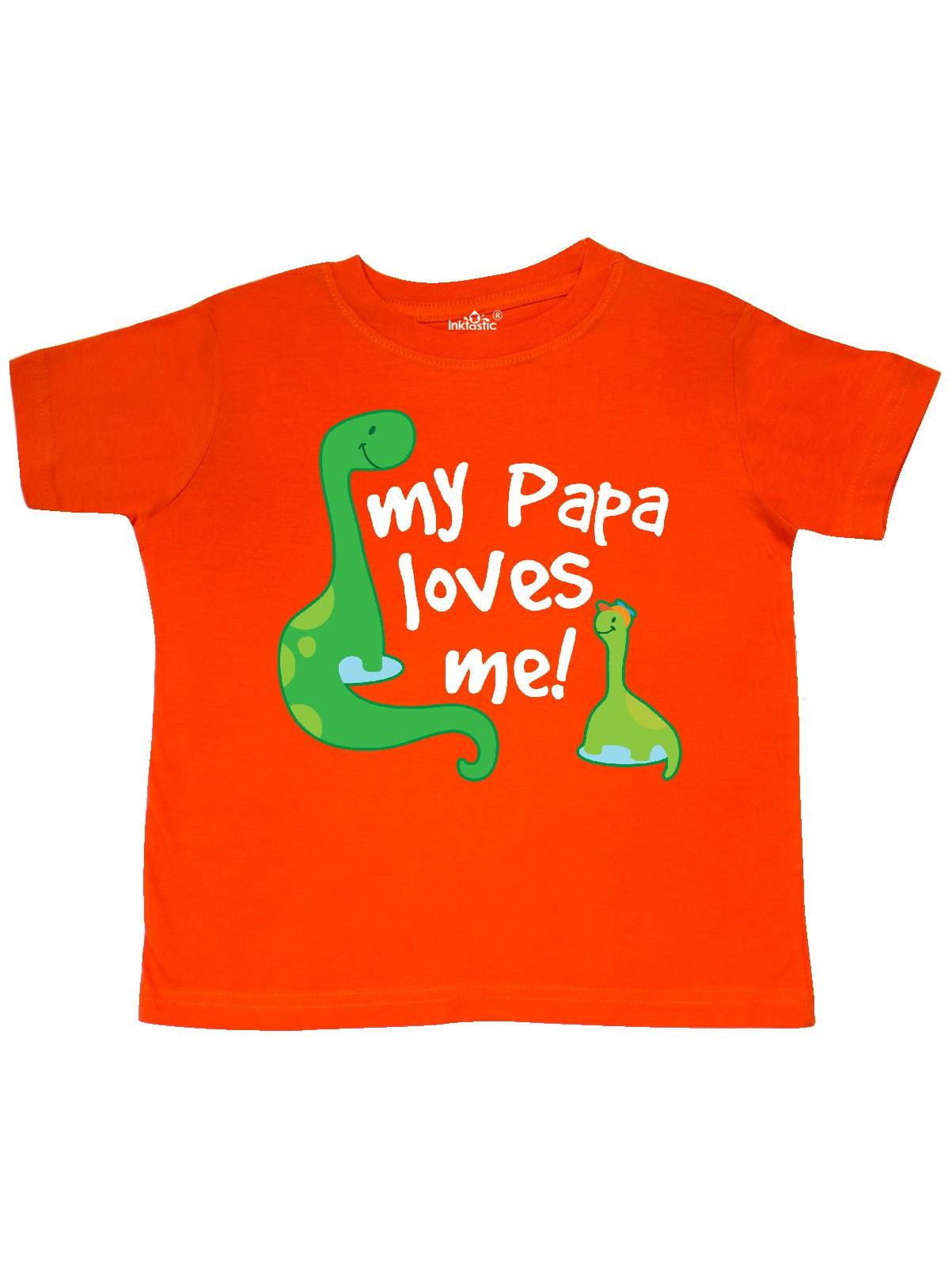 My Papa Loves Me dinosaur Toddler T-Shirt