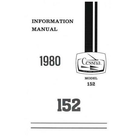 Cessna 152 1980 Pilot's Information Manual (D1170-13